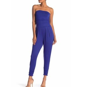 Pants - ✨NEW✨ STRAPLESS SOLID BLUE ROYAL  JUMPSUIT
